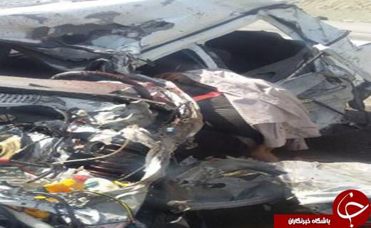 سه کشته و مجروح در تصادف محور قدیم ساوه - همدان + تصاویر