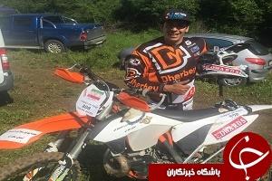 موتورسوار ایرانی سکوی نخست را تصاحب کرد