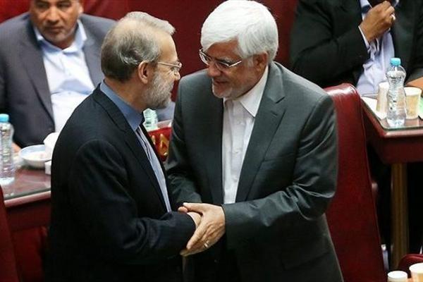 حضور لاریجانی و عارف در ضیافت حزب اعتدال و توسعه
