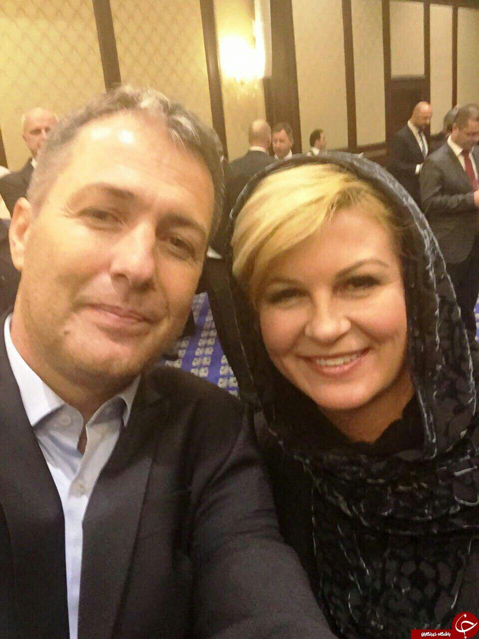 سلفی اسکوچیچ با خانم رئیس جمهور + عکس