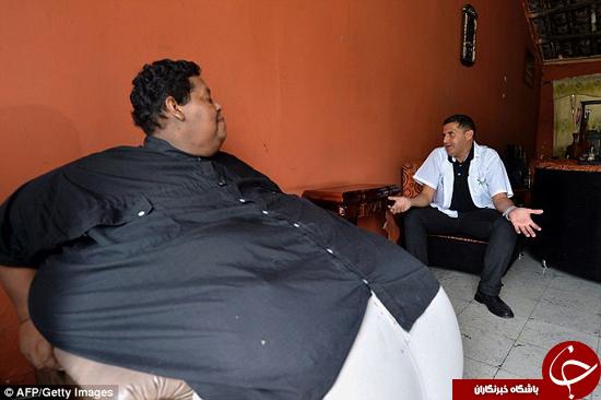 چاق ترین مرد کلمبیایی + تصاویر