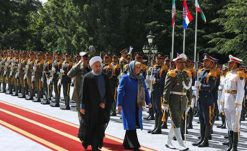 4549081 850 استقبال روحانی از کیتاروویچ در سعدآباد+ تصاویر