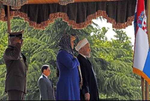 4549082 190 استقبال روحانی از کیتاروویچ در سعدآباد+ تصاویر