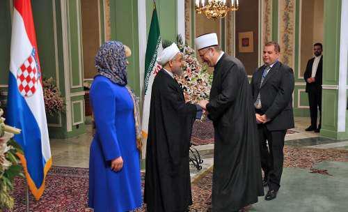 4549083 518 استقبال روحانی از کیتاروویچ در سعدآباد+ تصاویر