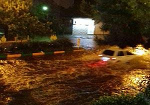 وقوع 20 حادثه بر اثر بارش باران و تگرگ در مشهد
