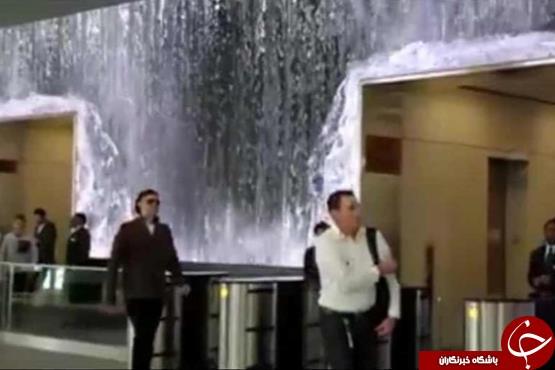 آبشار در متروی سانفرانسیسکو آمریکا + فیلم