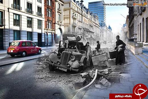 عکس/ بازسازی صحنه ای از جنگ جهانی دوم در لندن