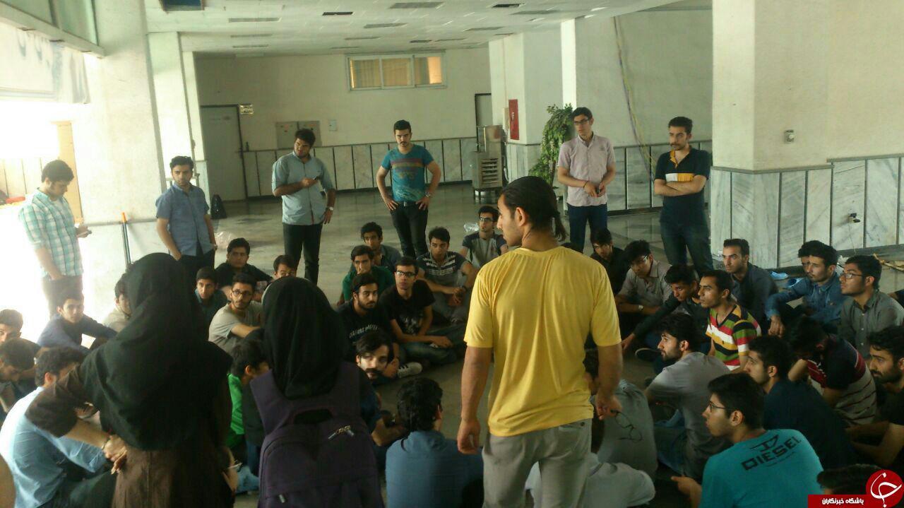 پایان تحصن دانشجویان نوشیروانی، پیمانکار سلف جریمه شد+ تصاویر