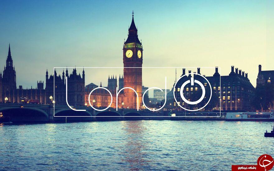 طراحی لوگو با استفاده از نام شهرهای دنیا+تصاویر