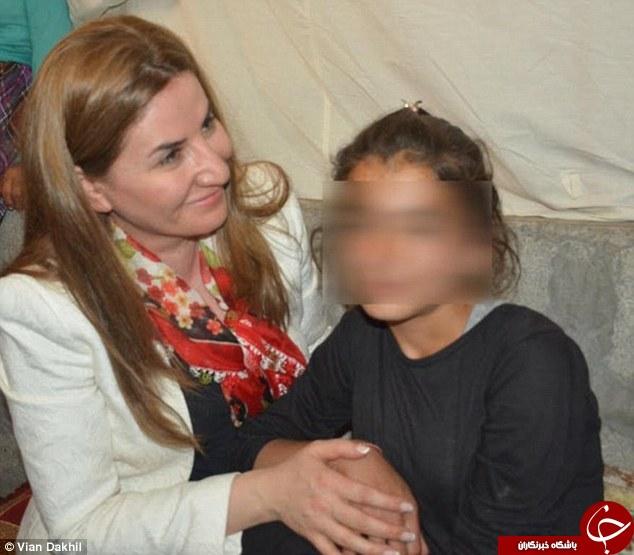 فرار دختر 12 ساله ایزدی از دست داعش بوسیله قرص خواب آور+ تصاویر