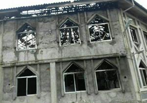 آتش سوزی در حسینیه روستای اهلم + تصاویر