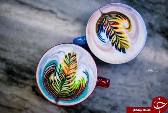 قهوه رنگین کمان چیزی است که تکشاخها برای صبحانه میخورند + تصاویر