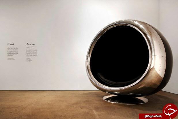 صندلی از جنس موتور جت+عکس