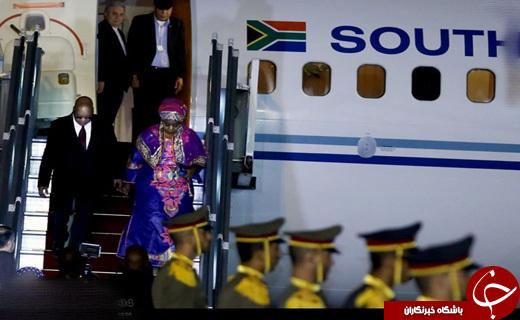 پوشش همسر رییس جمهور آفریقای جنوبی در ایران +عکس