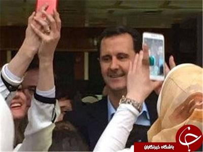 عکسهای سلفی بشار اسد و همسرش در یک مرکز فرهنگی+تصاویر