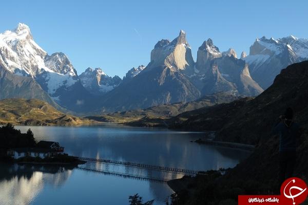 دریاچه فیروزه ای در شیلی +تصاویر