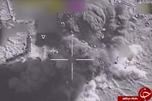 جنگنده ها اینگونه منابع مهمات داعش را منهدم کردند + فیلم