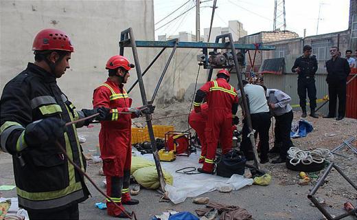 سقوط مرگبار کارگر مقنی به اعماق چاه+تصاویر