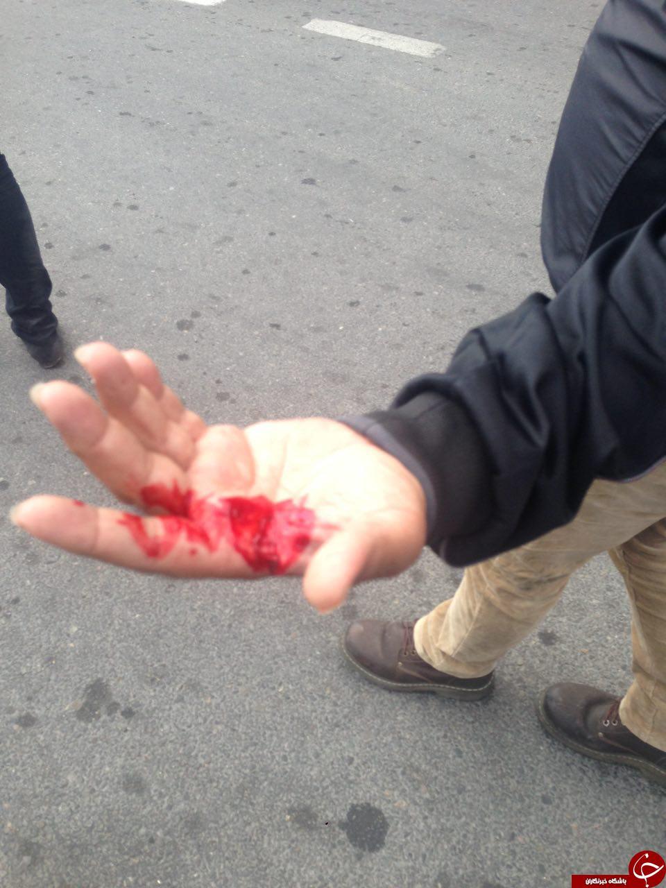 راننده خشن پلیس و تاکسیرانان را مجروح کرد/ کی دعوا بر سر یک لقمه نان تمام میشود؟+ فیلم و تصاویر