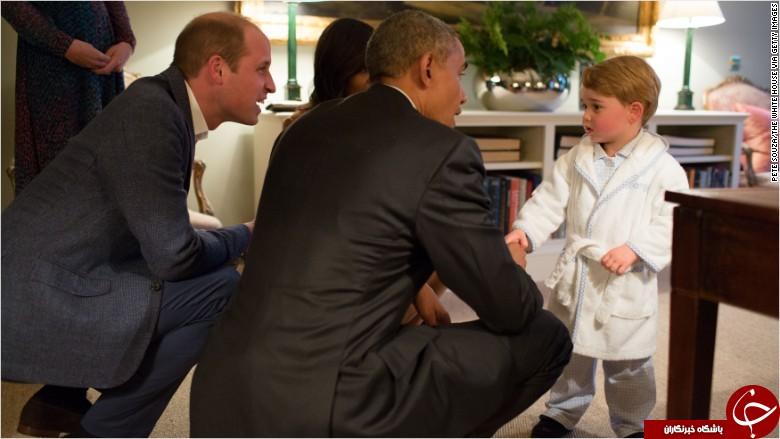 حوله حمام پرنس جورج در دیدار با اوباما به حراج نرسید+عکس