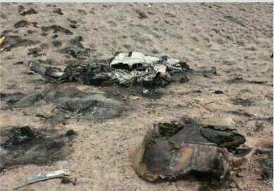 سقوط هواپیمای جنگنده F7 در حوالی شهرستان نائین+فیلم