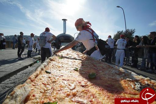 طولانی ترین پیتزا جهان+تصاویر