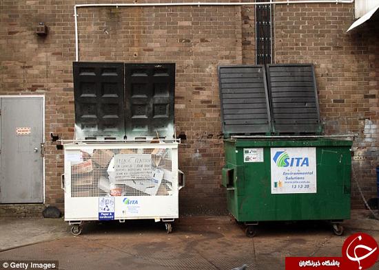 مگر سطل آشغال جای خوابیدن است؟! + تصاویر