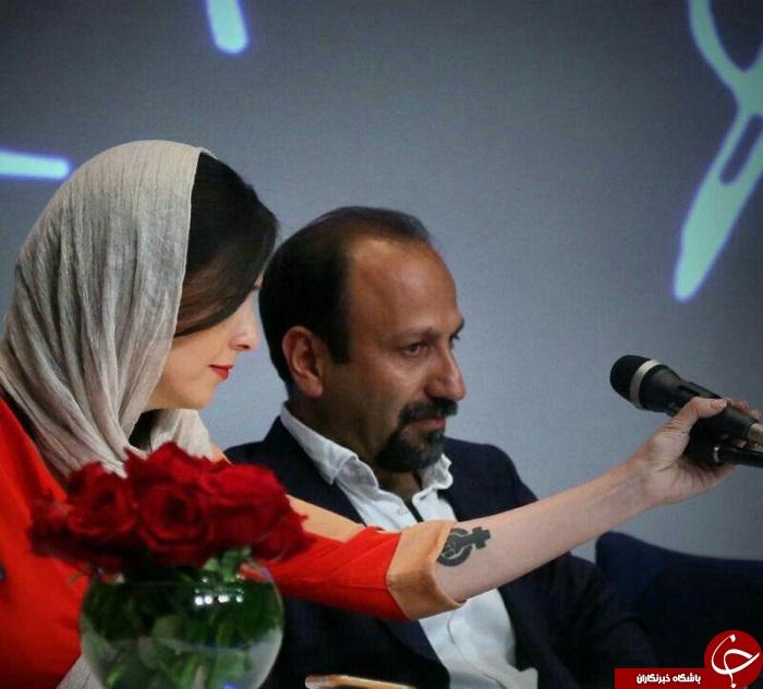نماد هک شده روی دست این بازیگر زن ایرانی به چه معناست؟! +عکس