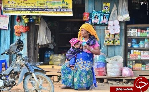 عکس/ آرایش دردناک زنان میانمار