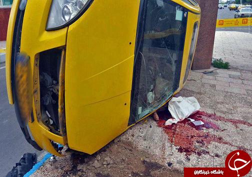 عکس/ مرگ دلخراش راننده تاکسی(18+)