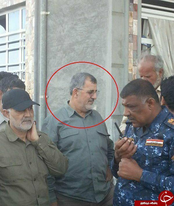 عکس دیده نشده سردار سلیمانی و فرمانده نیروی زمینی سپاه در فلوجه