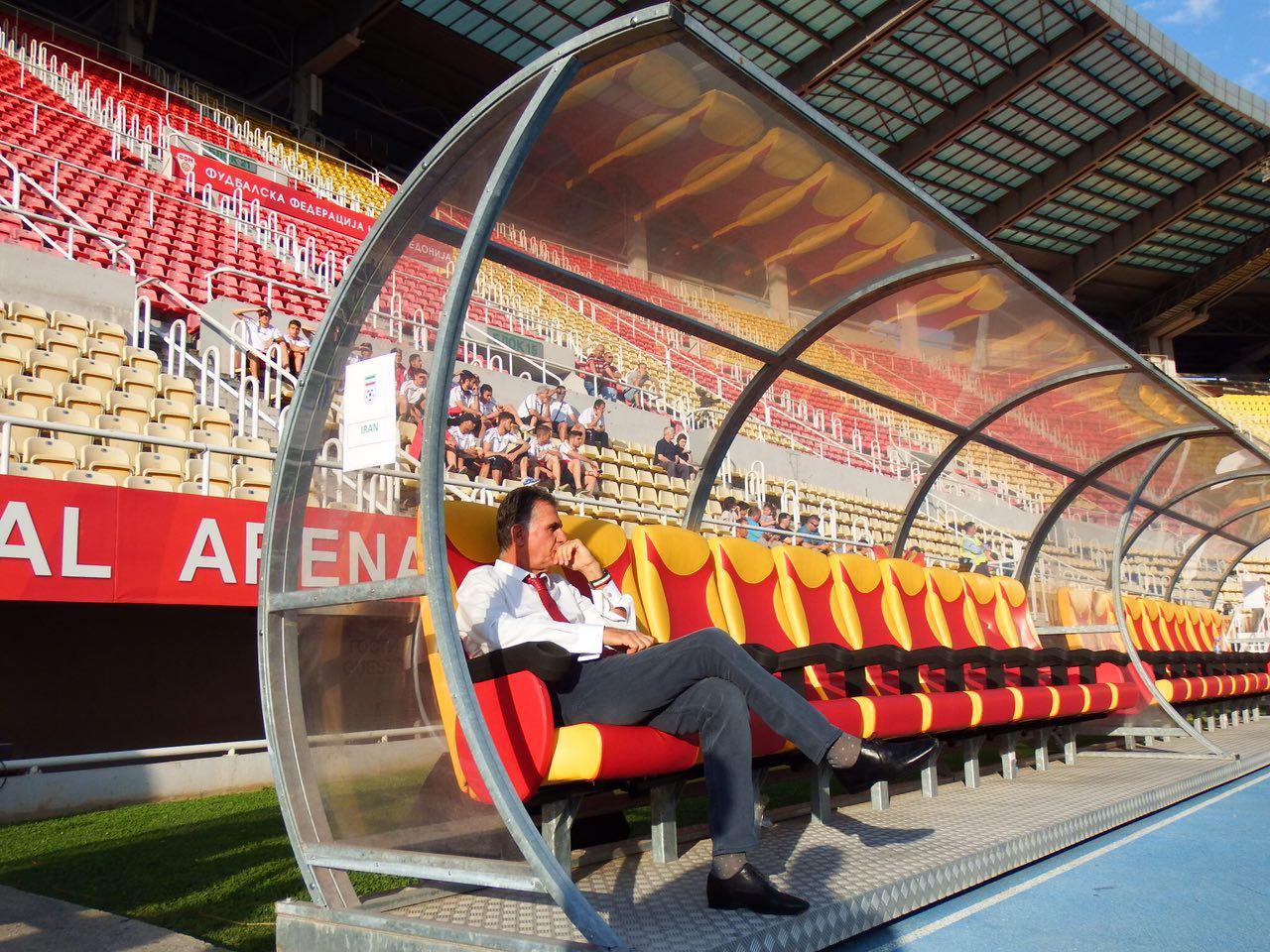 تصاویری از ورزشگاه اسکوپیه