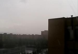 بارش باران سراسر مشهد را فراگرفت + فیلم
