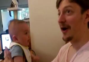 دانلود فیلم نوزادی سه ماهه که صحبت میکند + تصاویر