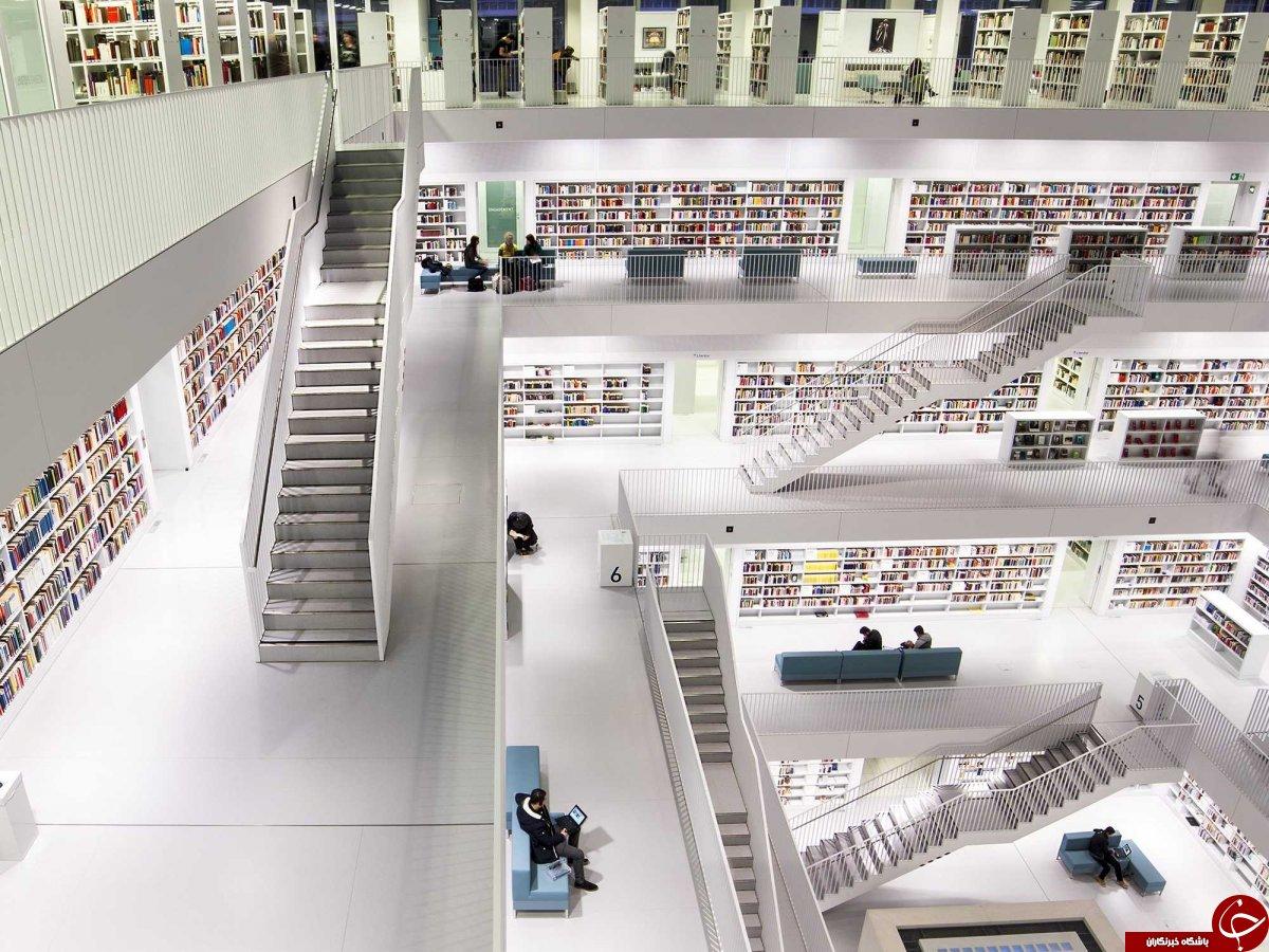وقتی کتاب ها درکتابخانه خودنمایی می کنند+تصاویر