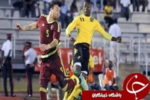 پیروزی ونزوئلا برابر تیم 10 نفره جامائیکا