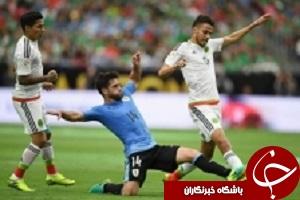 شکست سنگین اوروگوئه برابر مکزیک در دیداری پربرخورد
