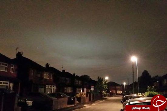 نورهای عجیبی که سه روز است در انگلستان میدرخشند + تصاویر