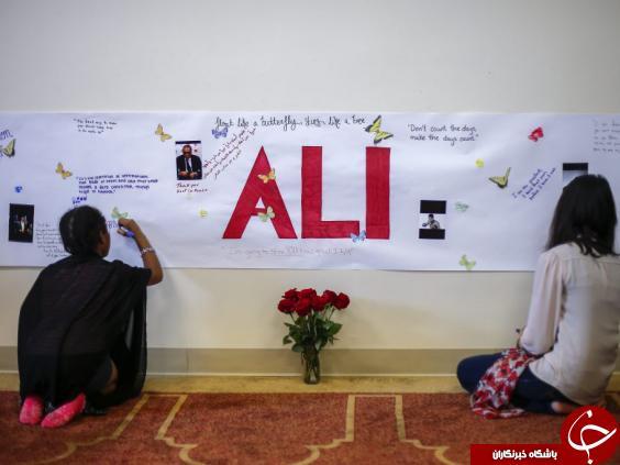 مراسم تشییع و خاکسپاری محمد علی کلی + تصاویر