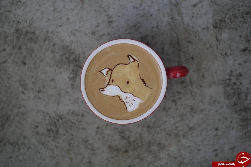 خلق طرح هایی جالب و متفاوت با چای لته + تصاویر