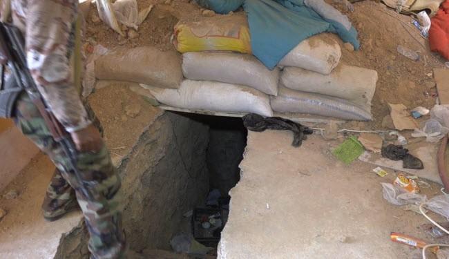 تونل های داعش و مواد غذایی عربستانی که در آن انبار شده است+تصاویر