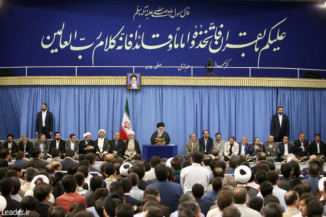 بیانات رهبر معظم انقلاب اسلامی در محفل نورانی انس با قرآن کریم در اولین روز ماه مبارک رمضان