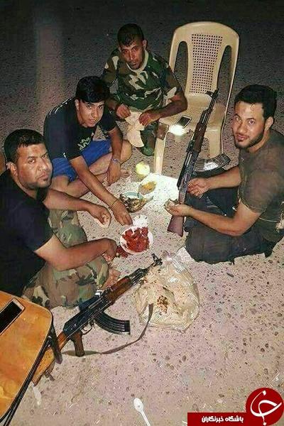 سفره سحری مدافعین حرم + تصویر