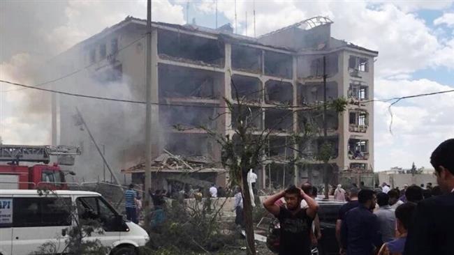 انفجار در مرکز پلیس ماردین ترکیه/ شماری زخمی شدند