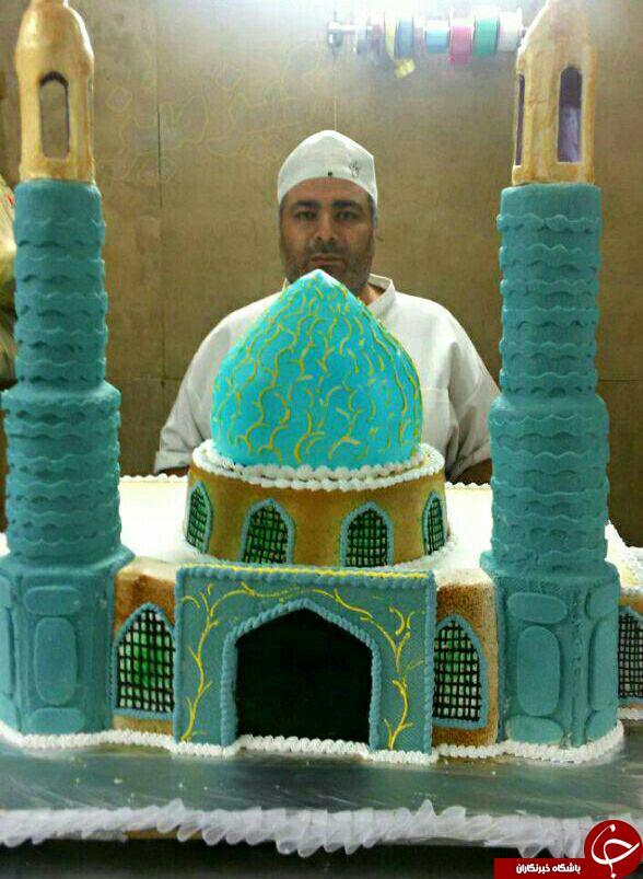 کیک با طرح مسجد مقدس جمکران + عکس