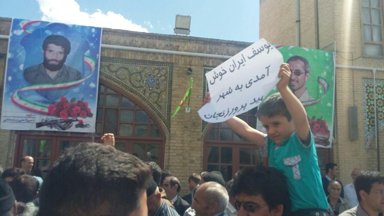 حضور احمدی نژاد درجمع زنجانی ها+تصویر