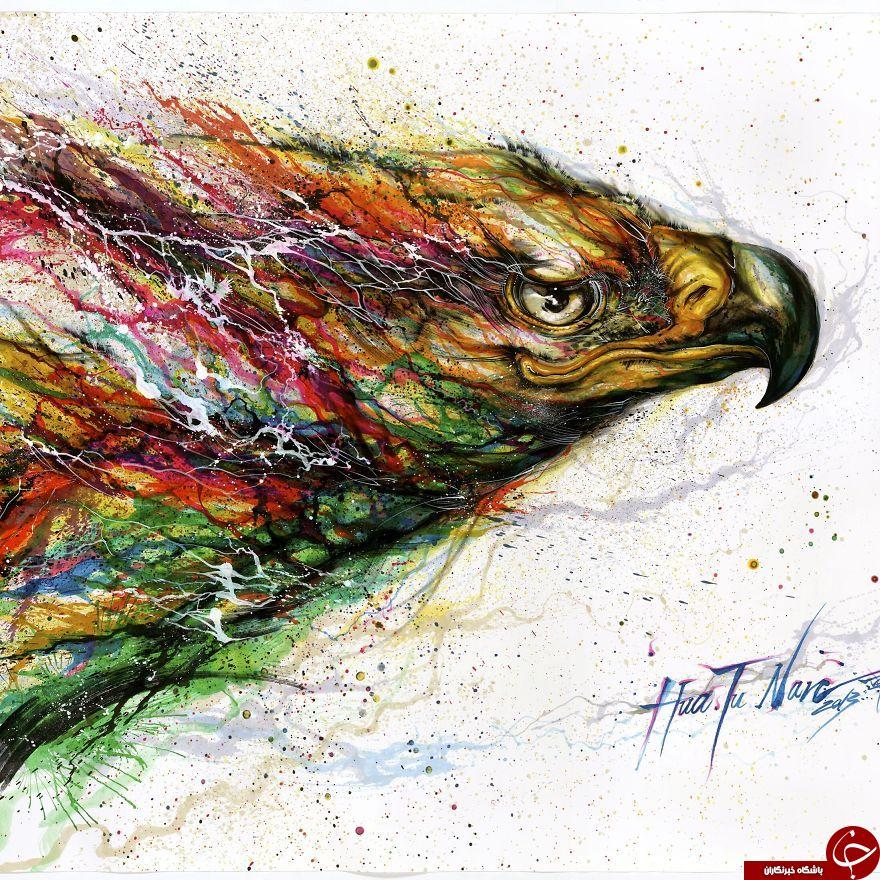 نقاشی هایی با رنگ آمیزی عجیب+18عکس