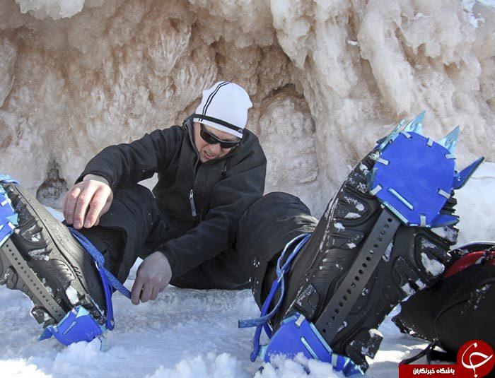 حیرت انگیزترین غارهای یخی پنهان دریاچه سوپریور