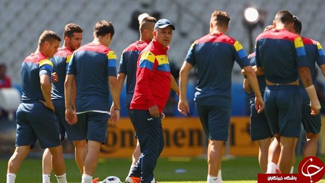 تمرین امروز تیم ملی رومانی در فرانسه + تصاویر