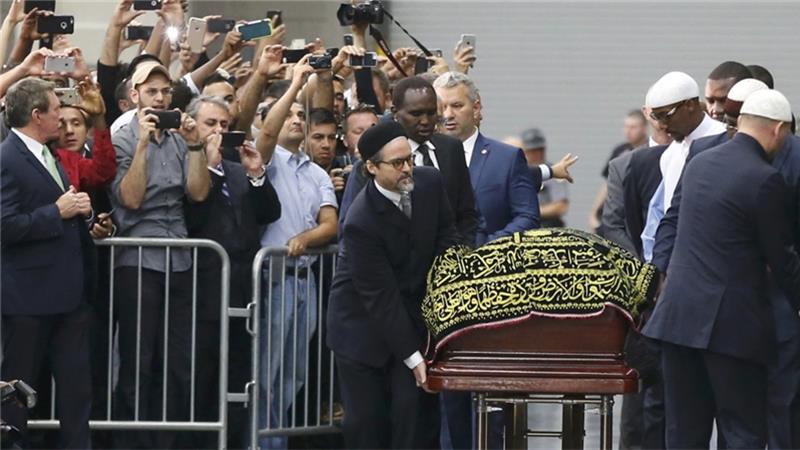 بازتاب مراسم خاک سپاری محمدعلی کلی در رسانه های جهان
